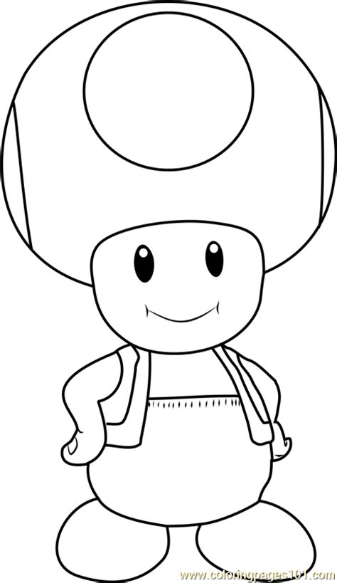 toad coloring page free super mario coloring pages