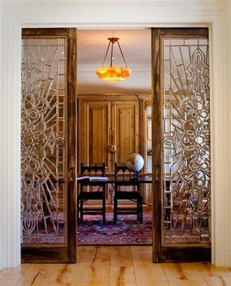 Sliding Stained Glass Doors For The Home Moldings Stained Glass Sliding Doors