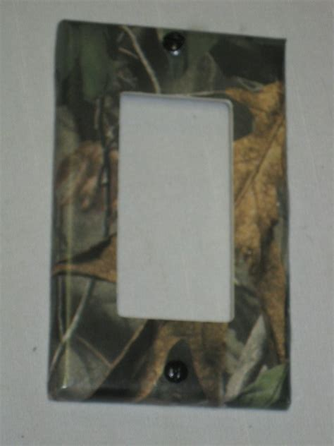 realtree camo deer moose light switch plate cover