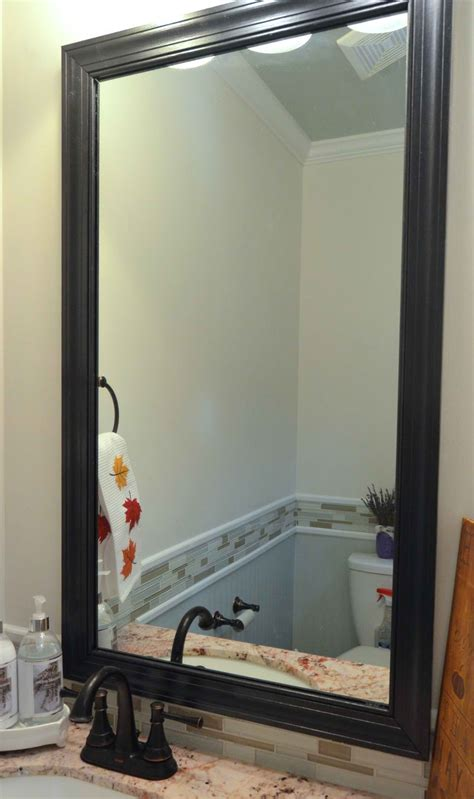 diy frame bathroom mirror home cheap home improvement ideas diy projects craft ideas