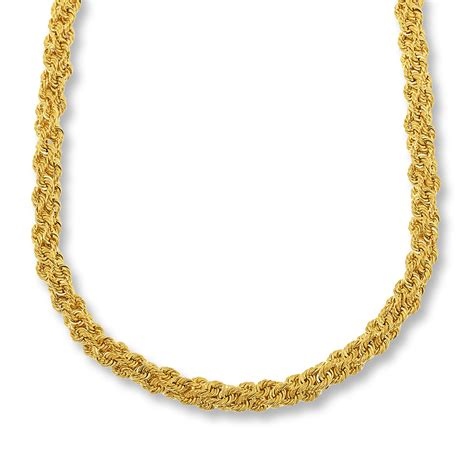 jewelry chain rope chain necklace bronze 14k gold plated 18 quot length