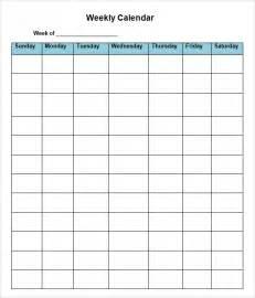 8 week calendar template blank 8 week calendar calendar template 2016
