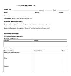 template lesson plan sle lesson plan template 9 free documents in