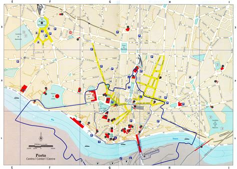 porto map large porto maps for free and print high
