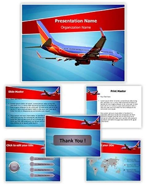 Professional Southwest Airlines Editable Powerpoint Template Airline Powerpoint Templates