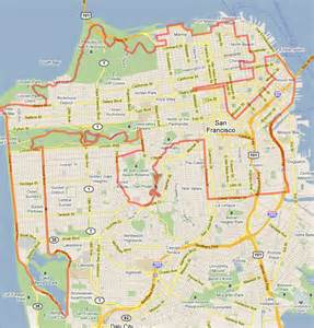 Google Maps San Francisco by Scenic Drive San Francisco Map