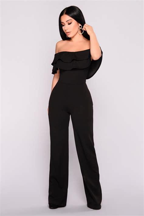 Ready Black ready to ruffle jumpsuit black