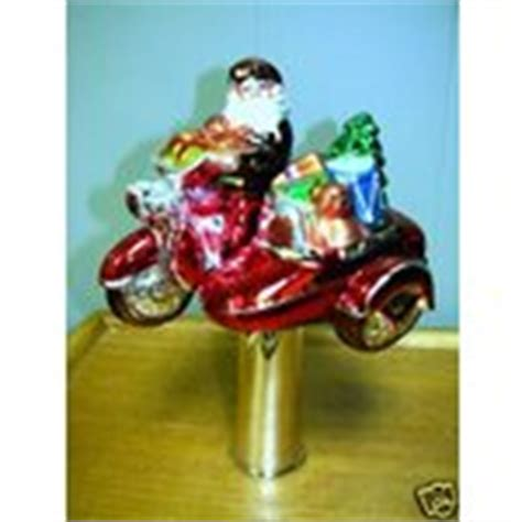 harley davidson christmas tree topper blown glass nib