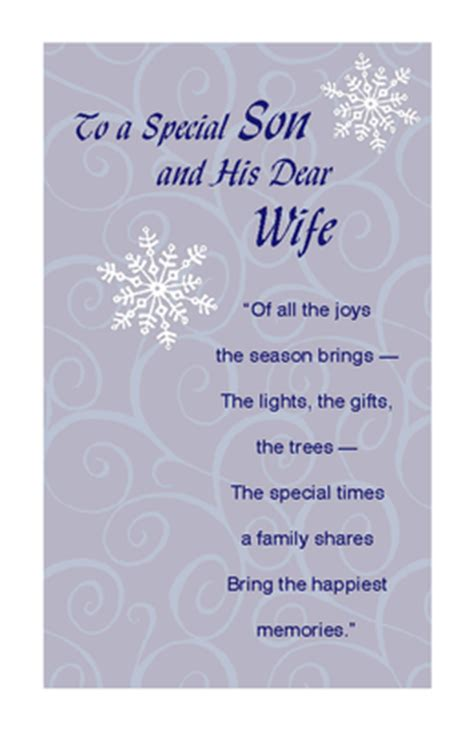 printable christmas cards for my wife quot son and his dear wife quot christmas printable card blue