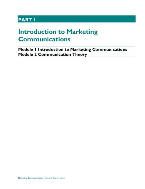 Ebs Mba Modules by Marketing Communications Course Taster