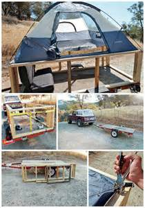 Homemade Awning Ideas He Put A Tent On A Trailer And Made A Practical Camper