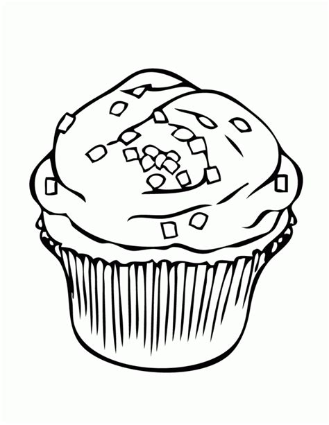 Printable Coloring Pictures Of Cupcakesl L