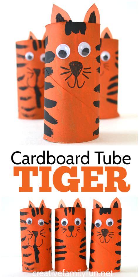 tiger crafts for cardboard tiger craft creative family