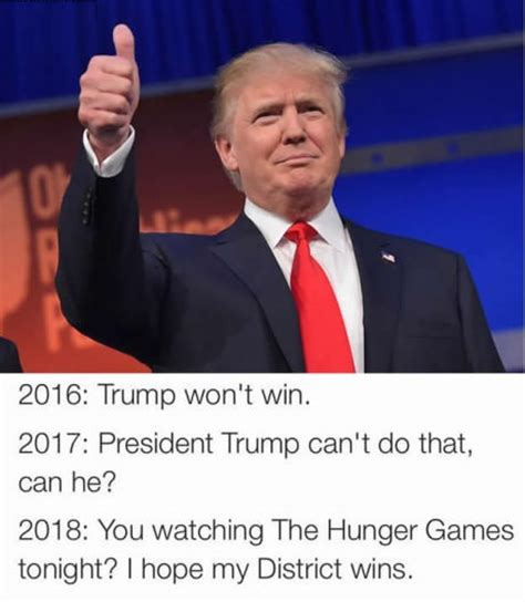 donald trump game hunger games