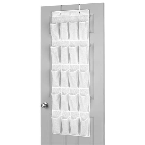 whitmor white 20 pair shoe rack storage organizer holder whitmor 20 pair over the door shoe organizer 6625 10 pdq