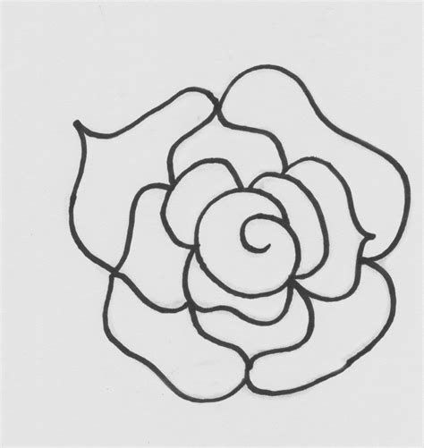 pin rose template on pinterest