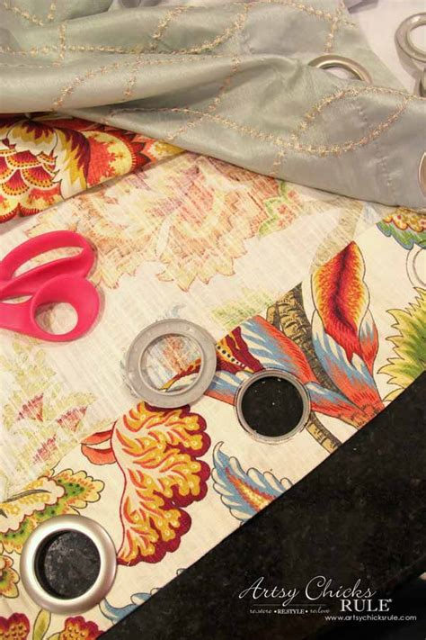 sewing curtains with grommets how to make no sew curtains with grommets artsy chicks rule 174