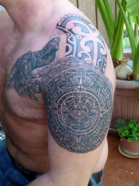aztec shoulder tattoo 27 beautiful tribal shoulder tattoos only tribal