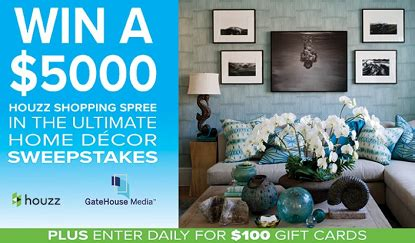 home decor sweepstakes times news ultimate home decor sweepstakes
