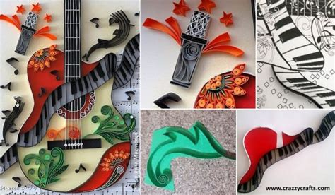 quilling guitar tutorial how to make quilling guitar step by step tutorial