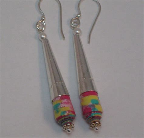 Earrings With Paper - paper bead jewelry paper bead earrings paper dangle