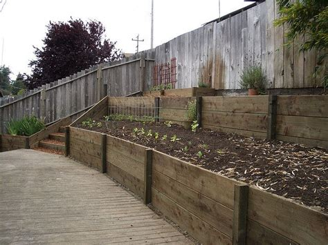 17 Best Images About Home Backyard Retaining Wall On Wooden Garden Walls