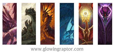 printable dragon bookmarks elemental dragon bookmarks weasyl