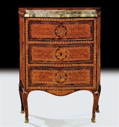 cassetti argenti comodino luigi xv a tre cassetti napoli xviii secolo