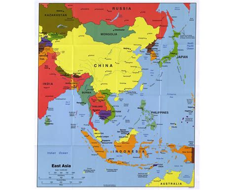map of east cities maps of east asia east asia maps collection of