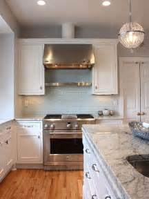 Blue Backsplash Kitchen Light Blue Subway Tile Backsplash Kitchens Pinterest