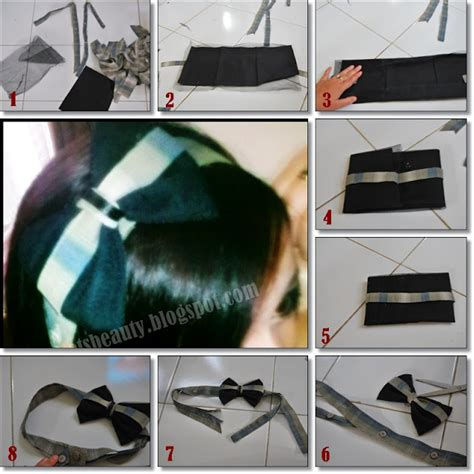 tutorial jepit rambut pita tutorial bandana dari kain sisa make dream come true