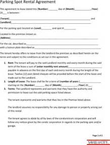 Garage Storage Lease Agreement Form Free Parking Lease Template For Free Formtemplate