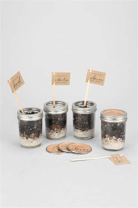 mason jar herb garden kit gifts  basic bitches