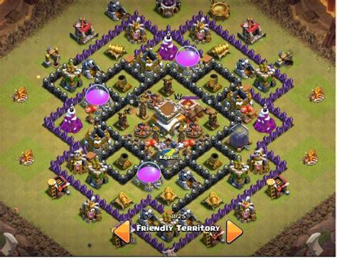 layout coc war base anti naga war base clash of clans th 8 anti naga dan hog rider