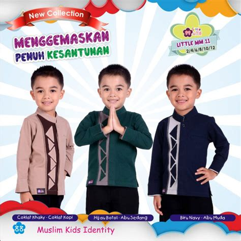 Mutif Koko Anak Lm12 Size 10 12 M Lmb 11 Rumah Madani Busana Muslim
