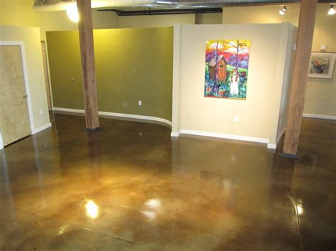 stained concrete living room interior concrete floor concrete staining modern living room st louis by decorative