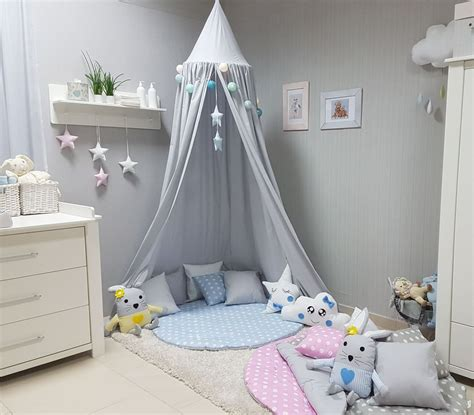 Wohnzimmer Ideen Wand 4673 by Babymajawelt 174 Betthimmel Baldachin Grau