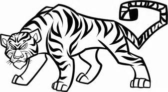 tiger line drawing clipart best