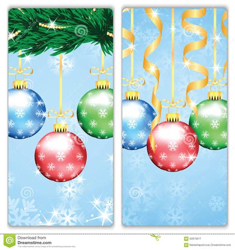 new year tree decorations and new year banners stock vector image 62679317