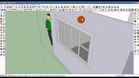 tutorial google sketchup 8 español parte 8 como insertar ventanas y puertas en google sketchup