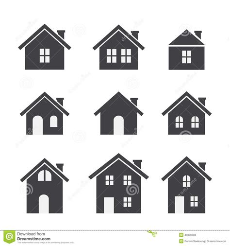 set houses drawings stock photo photo vector illustration house icon set stock vector image 43306903