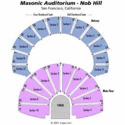 Seating chart masonic auditorium tickets masonic auditorium maps