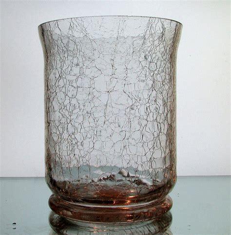 Vase Holder by Crackle Glass Hanging Vase Candle Holder