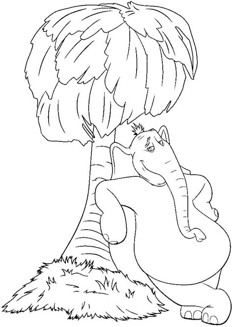 coloring pages horton the elephant horton hears a who coloring pages free coloring home