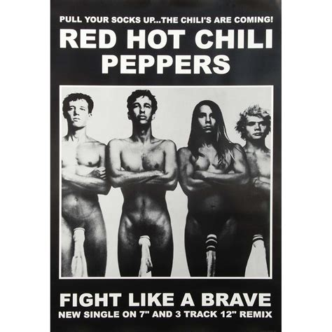 red hot chili peppers in color poster home decor gift by red hot chili peppers fight like a brave import poster