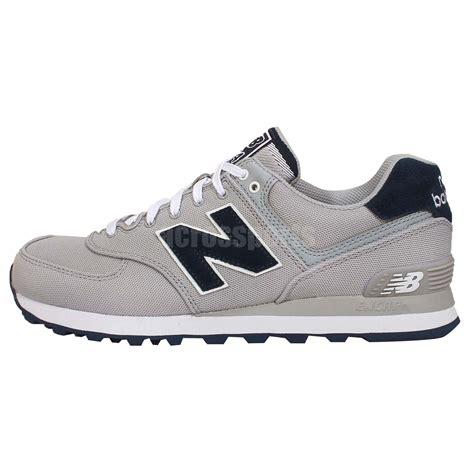 vintage new balance sneakers new balance ml574poy d grey black mens retro running shoes