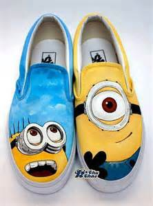 minion shoes despicable me minions custom painted shoes alldaychic