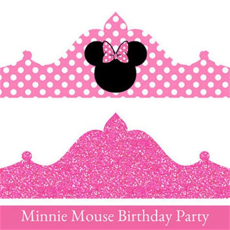 minnie mouse birthday crown printable from