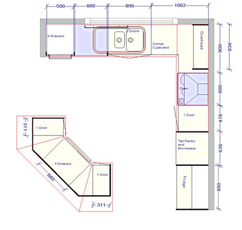 Kitchen Floor Planner Kitchen Design Outstanding Kitchen Floor Plan With Detail Sizes Note And Code Awesome