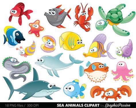 Under The Sea Creatures Clipart   ClipartXtras